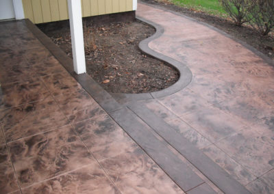 rochester stamped concrete company installer