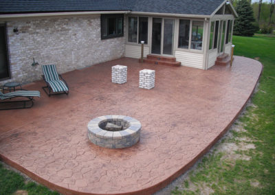 stamped concrete rochester ny patio