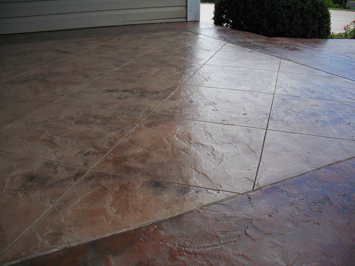 What Is The Difference Between Stamped Concrete And Stained Concrete acid staining | decorative concrete systems